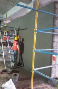 how to plaster a house