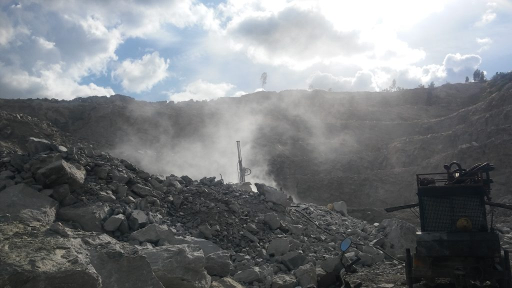 quarrying of stones by blasting1