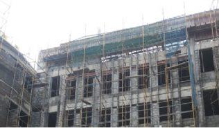 Front Elevation including Block work